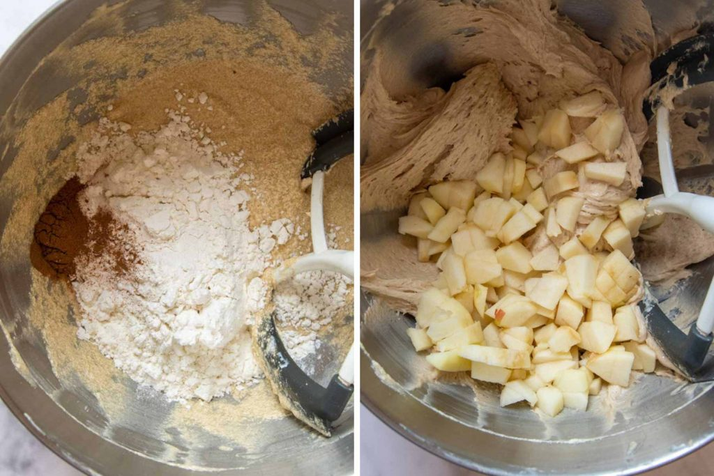 images showing how to make gluten-free apple muffins
