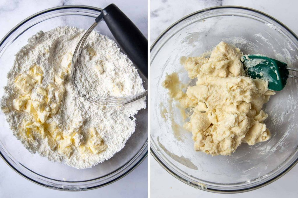images showing how to make gluten-free cobbler topping