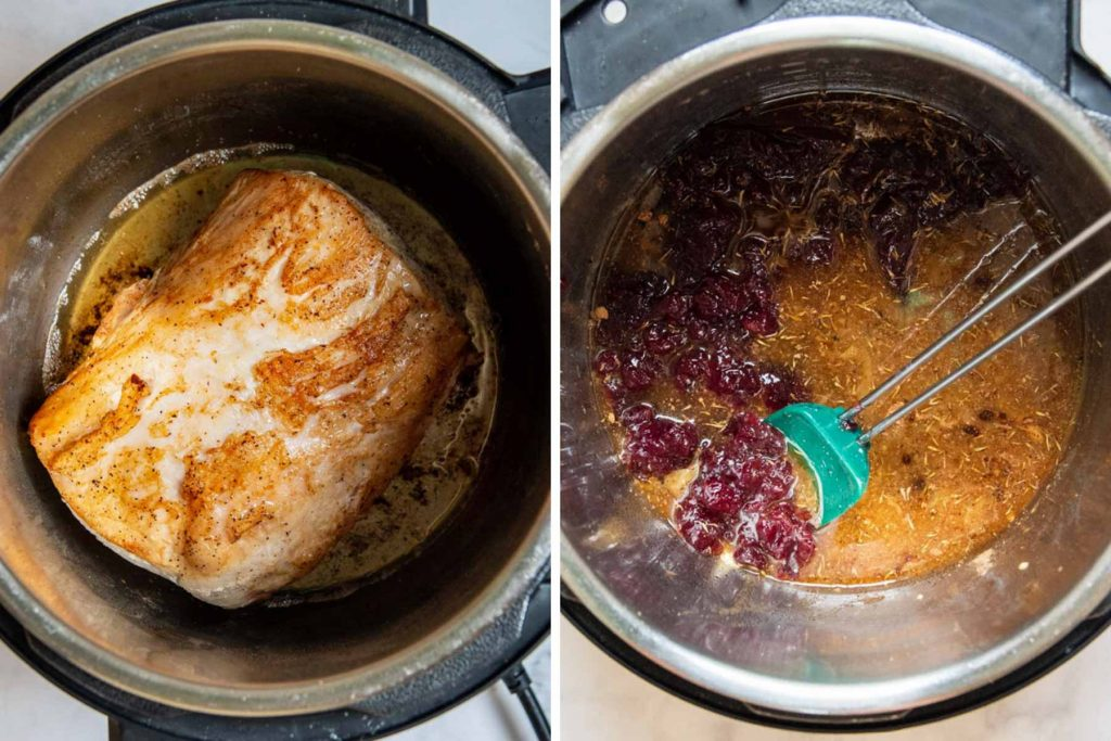 images showing how to make pork roast in an instant pot