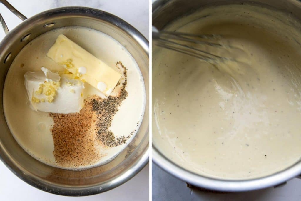 images showing how to make gluten-free alfredo sauce