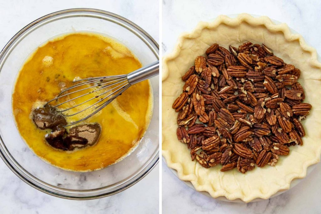 image showing how to make gluten-free pecan pie filling