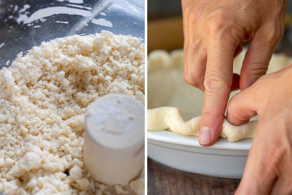 more images showing how to make gluten free pie crust