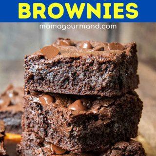 oat brownies pinterest pin