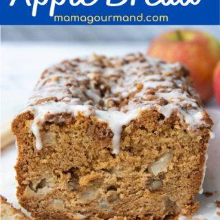 gluten free apple cinnamon bread pinterest pin