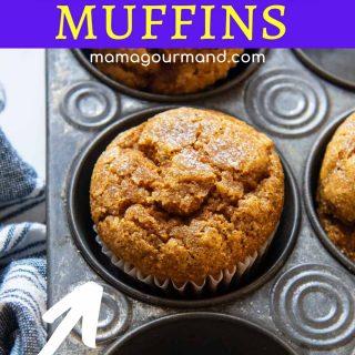 oat flour pumpkin muffin pinterest pin